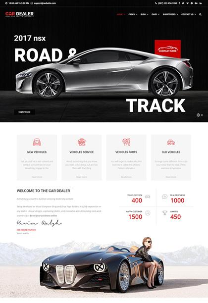Car Dealer Wordpress Theme | Auto dealer Wordpress Themes